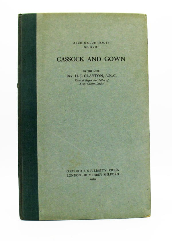 Cover of Cassock & Gown